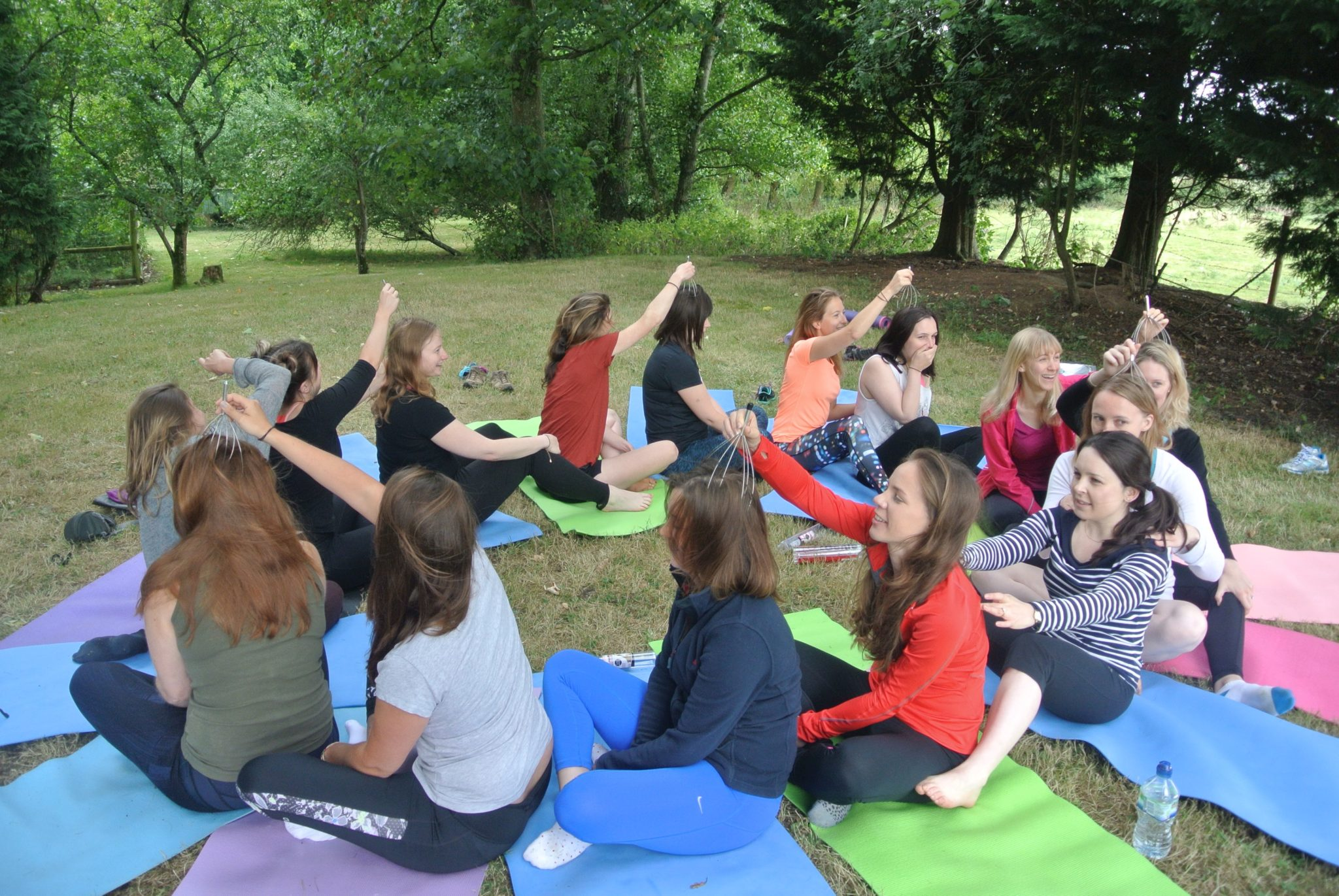outdoor yoga bath
